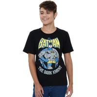 Camiseta Juvenil Batman Liga Da Justiça