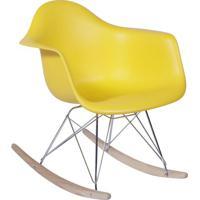 Poltrona Eames Dar Balanço- Amarela- 69X63X44Cm-Or Design