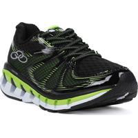 Tênis Esportivo Olympikus Speedy Running Preto/Verde