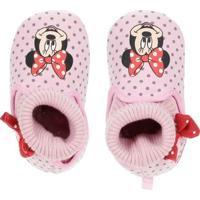 Pantufa Disney Minnie Infantil Para Menina - Rosa