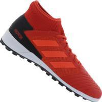 Chuteira Society Adidas Predator 19.3 Tf - Adulto - Vermelho Preto b9324753f4afe