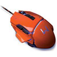 Mouse Multilaser, Gamer Warrior Ivor 3200 Dpi, Laranja Mo263