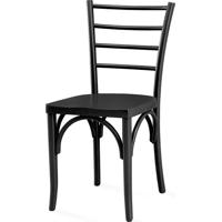 Cadeira Para Cozinha Com Assento Ergonômico - Laca Preto - Charlotte - 40,5X49X88 Cm
