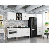 Cozinha Compacta Nevada Iii 9 Pt 7 Gv Grafite E Branca