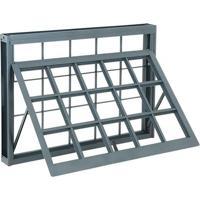Janela De Aço Maxim-Ar Silenfort Com Grade Quadriculada 1 Folha 60X80X8 - Sasazaki - Sasazaki