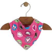 Babador Gatinho- Pink & Azul- 16X25Cmup Baby - Up Kids