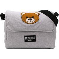 Moschino Kids Bolsa Maternidade Teddy Bear - Cinza