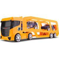 Caminhão Cegonheira - Com 2 Carrinhos - Next Race - Amarelo - Roma Jensen