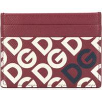 Dolce & Gabbana Porta-Cartões Com Estampa De Logo Dg - Vermelho