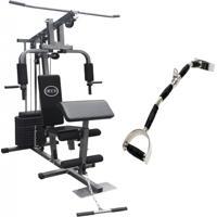 Estação De Musculação Com 80Kg Aparelho Ginástica Academia Puxador Wct Fitness 1001108