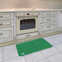 Tapete De Cozinha Mdecore Abstrato Verde 40X60Cm