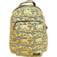 Mochila Infantil Xeryus Minions Escolar - Feminino-Amarelo