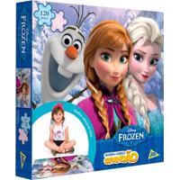 Quebra-Cabeça Grandão - Disney Frozen - 120 Peças - Toyster - Feminino-Incolor