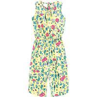 Macacã£O Pantacourt Floral- Amarelo & Rosa- Kids-Brandili