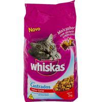 Ração Para Gatos Whiskas Gatos Castrados Sabor Carne Com 3Kg
