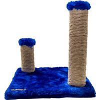 Arranhador Assimã©Trico- Azul Escuro & Bege- 30X13Cm<4 Patas