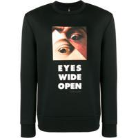 Neil Barrett Moletom 'Eyes' - Preto