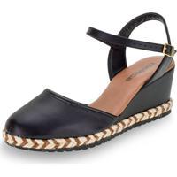 Sapato Feminino Espadrille Moleca - 5681100 Preto 34