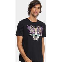Camiseta Cavalera Águia Caveira Masculina - Masculino