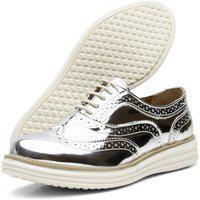 Sapato Casual Oxford Conforto 300 Prata