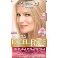 Tintura Imédia L'Oréal 10 Louro Claríssimo - Unissex-Incolor