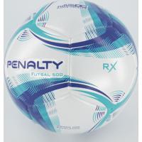 Bola Penalty Rx 500 Futsal Branca E Azul