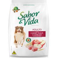 Ração Sabor E Vida Cães Adultos Carne Maçã E Cereais 1Kg