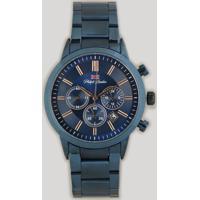 Relógio Cronógrafo Philiph London Masculino - Pl80046613M Azul Marinho - Único