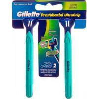 Aparelho De Barbear Gillette Prestobarba Ultragrip - 2 Unidades - Unissex