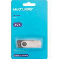Pen Drive Multilaser Twist 8Gb Preto Com 1 Unidade Ref: Pd587