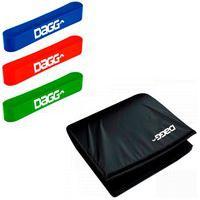 Kit 3 Mini Band Dagg Pro Faixa Elástica E Colchonete De Academia Dagg