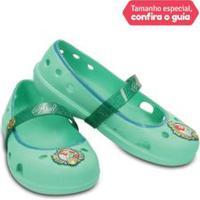 Sapato Infantil Keeley Disney Princess Flat Verde Menta - 24
