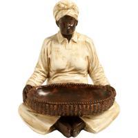 Escultura Decorativa De Resina Indiano Ratna