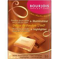 Pó Bronzeador Délice De Poudre Duo 55 Teinte Illuminatrice / Hâle Universel 16,5G