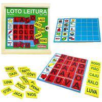 Brinquedo Alfabetizaçáo E Letramento Loto Leitura Carimbras