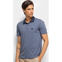 Camisa Polo Burn Basic Masculina - Masculino-Mescla+Marinho