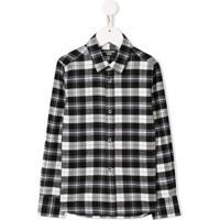 Neil Barrett Kids Camisa Com Estampa Gráfica - Preto