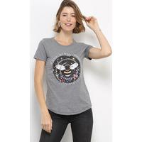 Camiseta Hapuna Baby Look Fell From Eternity Feminina - Feminino-Mescla Escuro