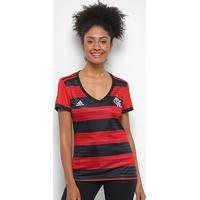 Camisa Flamengo I 2018 S/N° Torcedor Adidas Feminina - Feminino