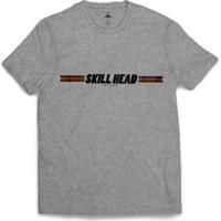 Camiseta Skill Head Fita Adesiva Cinza