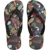 Chinelo Coca Cola Shoes Logo Preto