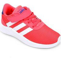 Tênis Infantil Adidas Lite Racer 2.0 C - Unissex-Rosa+Branco