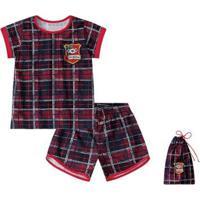 Pijama Bebê Lilica Ripilica Feminino - Feminino-Vermelho