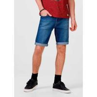 Bermuda Jeans Slim Com Elastano Masculina - Masculino-Azul Claro