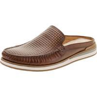 Sapato Masculino Mule Flow Democrata - 252107 Café 37