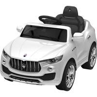 Carrinho 6 Volts Maserati Branco Xalingo