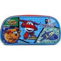 Estojo Infantil Luxcel Super Wings We Deliver - Masculino-Azul
