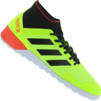 Chuteira Futsal Adidas Predator Tango 18.3 In - Adulto - Verde Claro/Preto