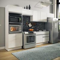 Cozinha Completa Molise 8 Portas E 2 Gavetas Branco E Branco