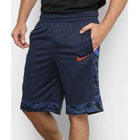 Bermuda Nike Dry Courtlines Print Masculina - Masculino-Marinho